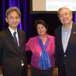 Professor Takahashi, Linda, and Dr. Lemen