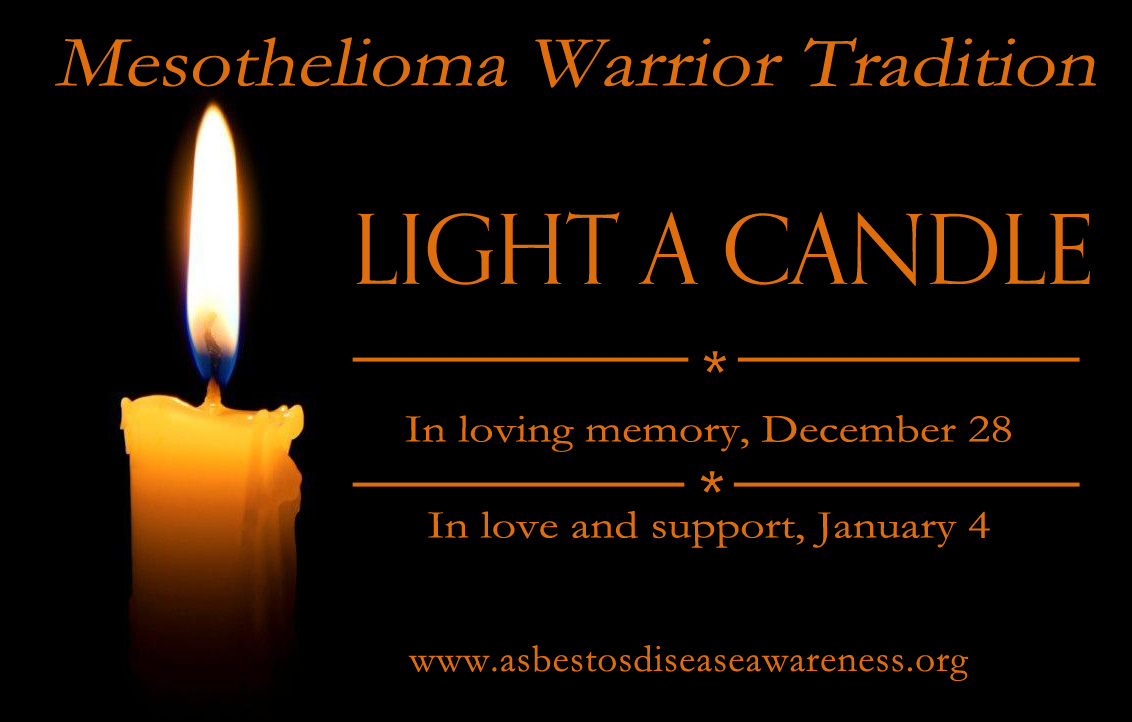 mesothelioma warrior candle lighting tradition on