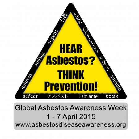 Hear Asbestos Think Prevention GAAW Square