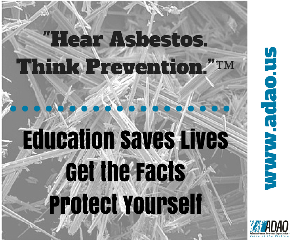 Hear Asbestos. Think Prevention