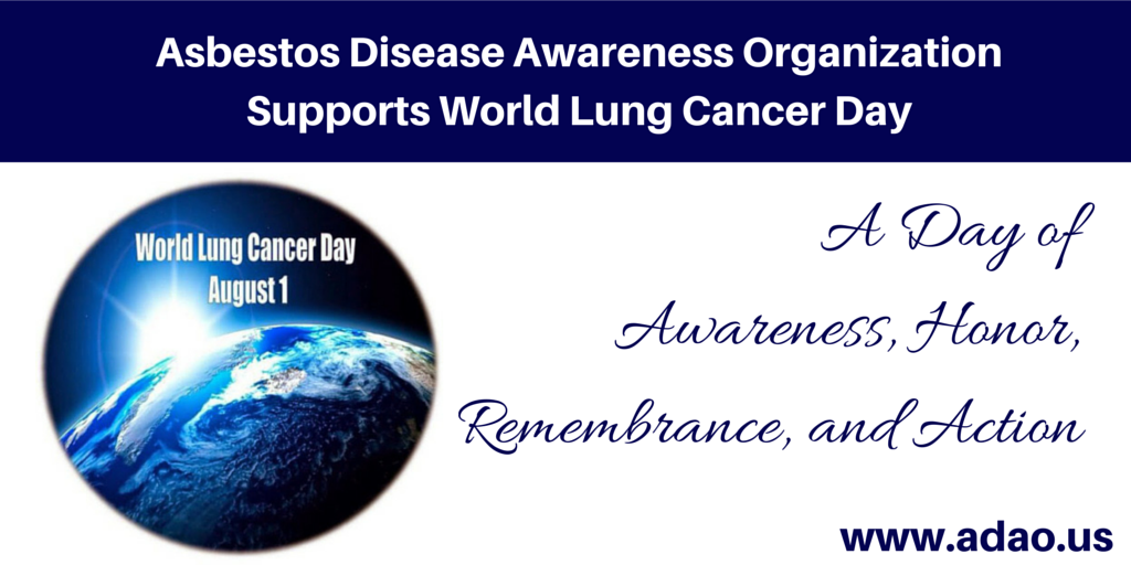 August 1st Marks The 4th Annual World Lung Cancer Day