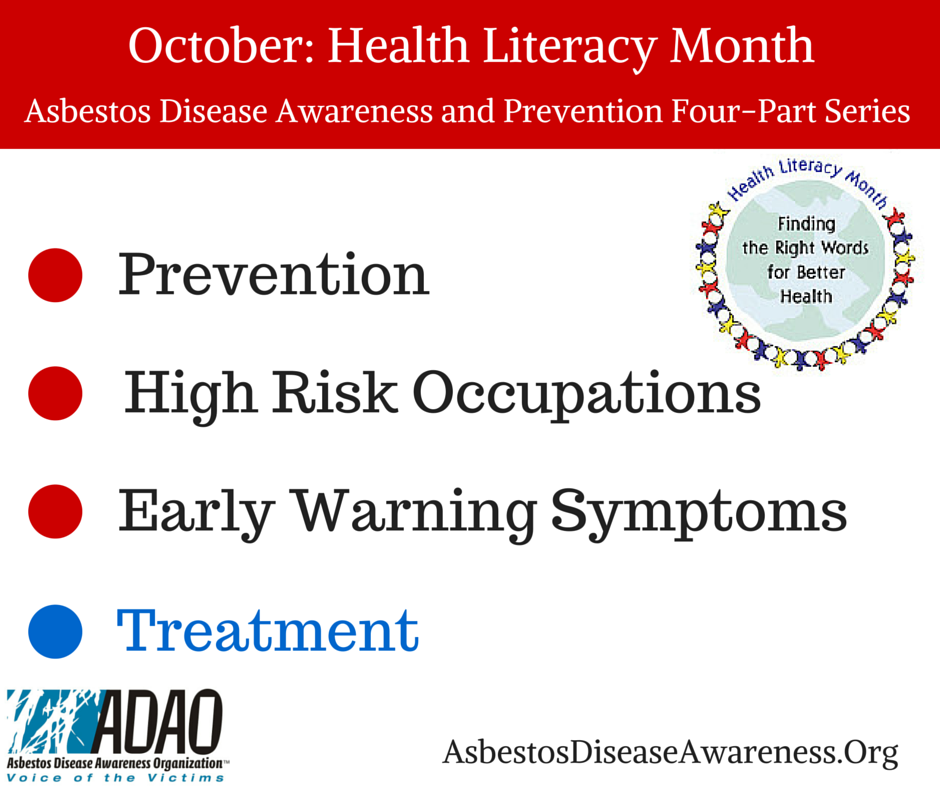 October Health Literacy Month Part 4 Finding A Center Of Excellence For Treatment Adao Asbestos Disease Awareness Organization