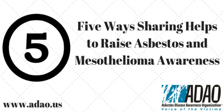 Five Ways Sharing Helps to Raise Asbestos and Mesothelioma Awareness CANVA