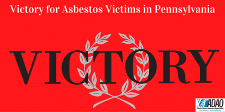 Victory for Asbestos Victims in Pennsylvania CANVA