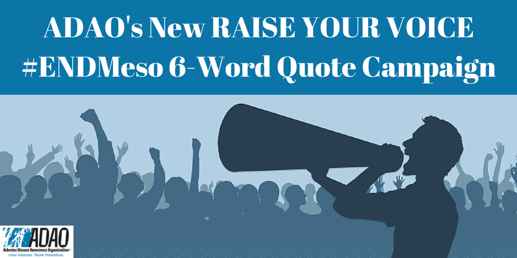 ADAO's New RAISE YOUR VOICE || #ENDMeso 6-Word Quote ...