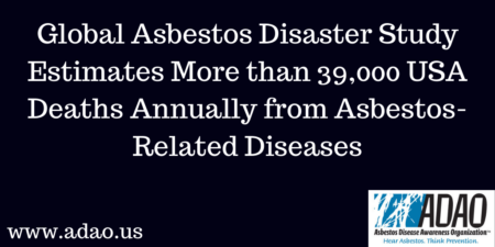 Global Asbestos Disaster Study Estimates More than 39,000