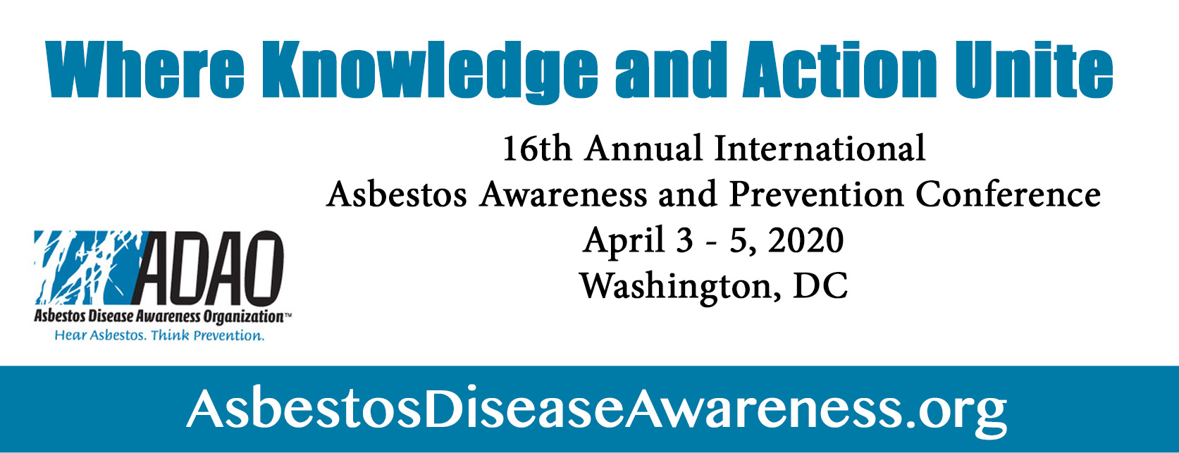 SAVE the DATE! ADAO's 16th Annual International Asbestos