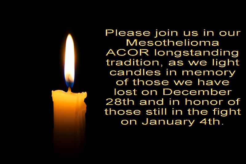 "ADAO in an ACOR mesothelioma group tradition as we ""Light a Candle"