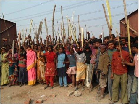 Bihar India People S Movement Stalls The Construction Of